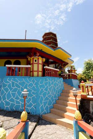 SULAWESI, INDONESIA - AUGUST 8.2015: Beautiful Pagoda Ekayana, famous tourist place tourist near Tomohon on the Village Kaskasken, North Sulawesi Utara, August 8. 2015 Sulawesi, Indonesia Editorial
