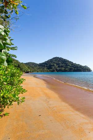 Beautiful dream paradise beach in Nosy Mangabe national park, Madagascar. Blue sky and clear sea, Wilderness pure nature scene