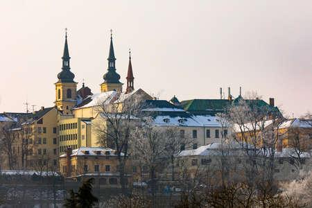 Panorama of city hall in Jihlava, region Vysocina, Highland, Czech Republic