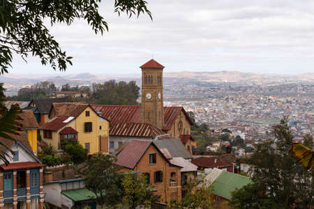 Antananarivo or Tananarive, short Tana,  Poor capital and largest city in Madagascar, Madagasikara republic.