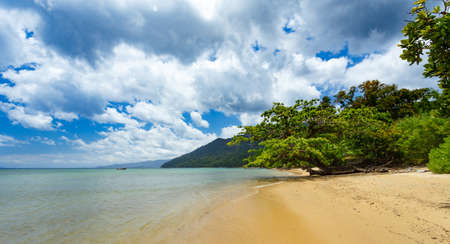 empty beach in Masoala forest national park, Madagascar. Stock Photo