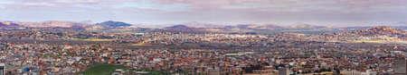 panorama of Antananarivo or Tananarive, short Tana,  Poor capital and largest city in Madagascar, Madagasikara republic. Stock Photo
