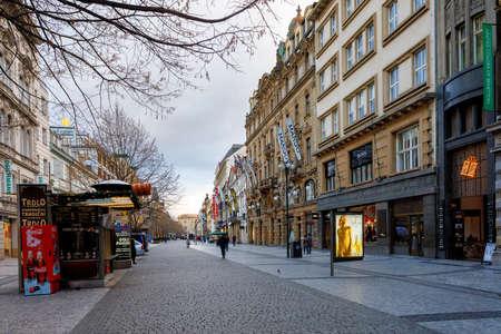 PRAGUE, CZECH REPUBLIC - DECEMBER 9, 2017: Advent Christmas time in prague street. December 9, 2017 Prague, Czech Republic. Redakční