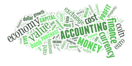 Background concept wordcloud illustration of finance and business words