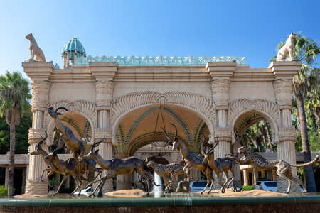 Sun City or Lost City, big entertainment center in South Africa like Las Vegas in North America. Reklamní fotografie - 114916387