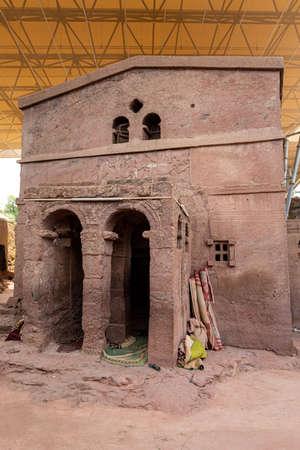 Bete Sillase is an underground Orthodox monolith rock-cut church located in Lalibela, Ethiopia. 写真素材