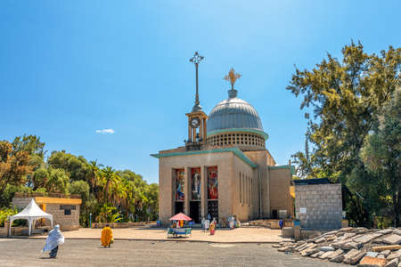 Debre Libanos, Ethiopia - April 19, 2019: Debre Libanos, monastery in Ethiopia, lying northwest of Addis Ababa in the Semien Shewa Zone of the Oromia Region. Founded in the 13th century by Saint Tekle Haymanot. Ethiopia Africa