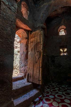 Debre Sina-Mikael an underground Orthodox monolith rock-cut church located in Lalibela, Ethiopia. 報道画像