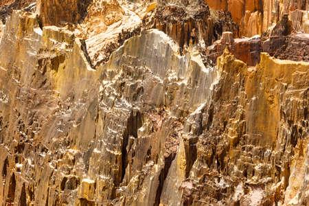 Lavaka of Ankarokaroka erosion canyon in Ankarafantsika National Park, moonscape lanscape in Madagascar, Africa wilderness nature landscape