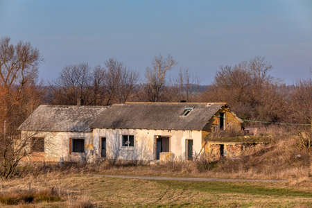 rundown and abandoned house in countryside, Czech Republic, Europe