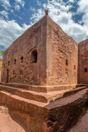 Church with the symbolic Tomb of Adam in the north western complex of rock hewn churches in Lalibela. Ethiopia