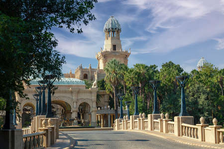 Sun City entertainment with nice architecture, hazard center in South Africa like Las Vegas in North America. Banco de Imagens