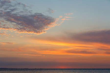 beautiful sunset sky on Madagascar Nosy Be, Sunset landscape