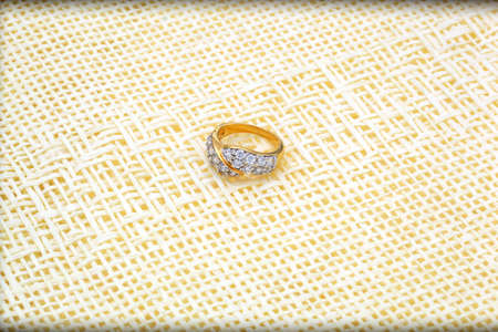 not to forget: Golden Ring. Do not forget to gifts for that special person. Stock Photo