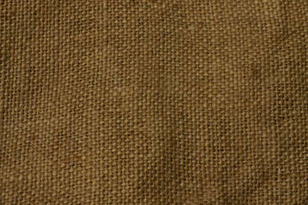 bagging: texture of coarse cloth bagging with fibers close-up Stock Photo