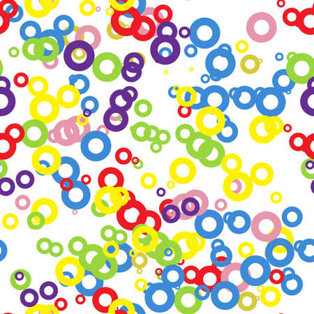 circles: seamless pattern of colored circles