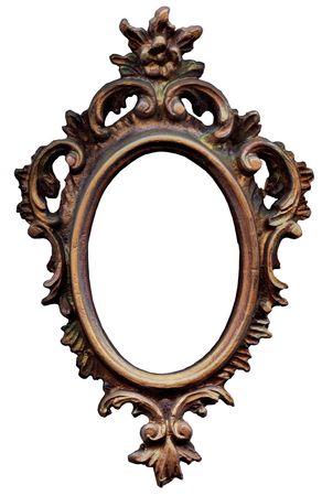 Cadre baroque ovale Banque d'images