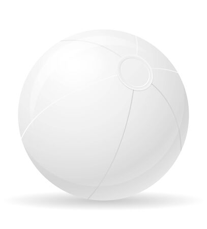 beach ball childrens toy stock vector illustration isolated on white background Zdjęcie Seryjne