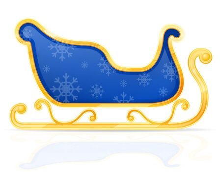 christmas santa claus sleigh stock vector illustration isolated on white background