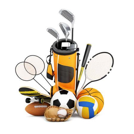 sports equipment: Sport equipment on white background