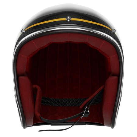 Motorcycle helmet black. Motorcycle helmet carbon. Helmet classic style photo