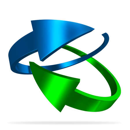green arrows: Awesome looking 3d glossy blue and green arrows