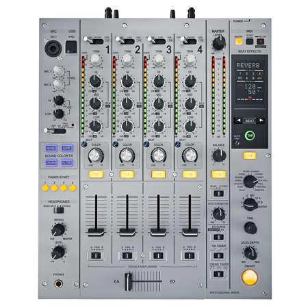 party dj: Gray mezclador de DJ en un fondo blanco