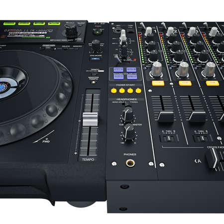 fx: Dj set controls. Illuminated buttons with Light diodes