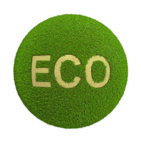 bionomics: Eco green grass on a white background