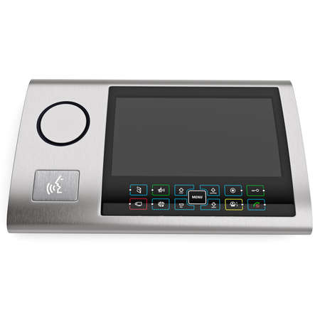 big screen: Intercom in a contemporary style with a big screen, isolated on a white background