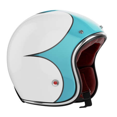 casco rojo: Motocicleta casco Foto de archivo