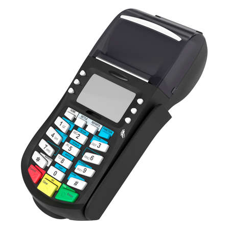 computer terminal: credit card POS terminal Stock Photo