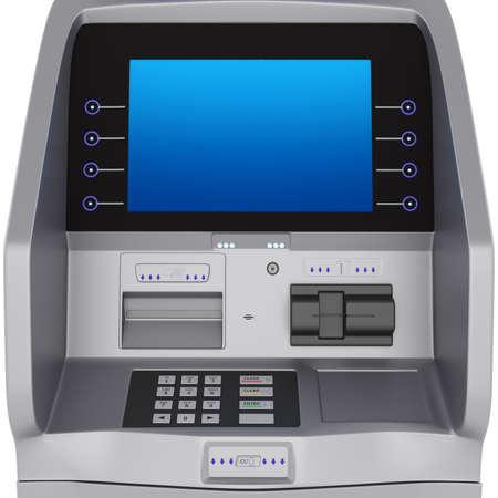 ATM display and keyboard set terminal. ATM for storing money zhidkokrestalicheskim display photo