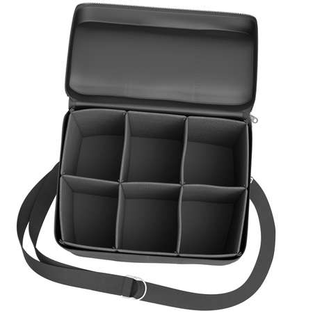 portage: Baggage car with black mesh and strap on a white background Stock Photo