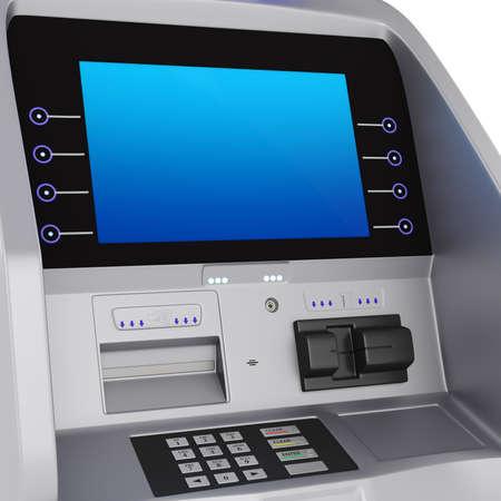 bankomat: Display and keyboard set terminal. ATM for storing money zhidkokrestalicheskim display