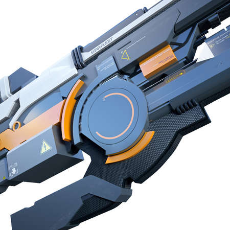 contend: Nice and ergonomic assault rifle for futuristic war