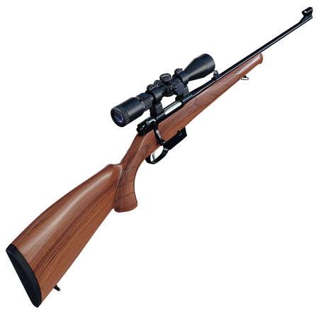 modèle d'un fusil d'assaut pour les chasseurs Time-porté