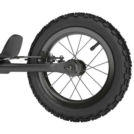 rear wheel: Rear wheel scooter with brake system on a white background Stock Photo