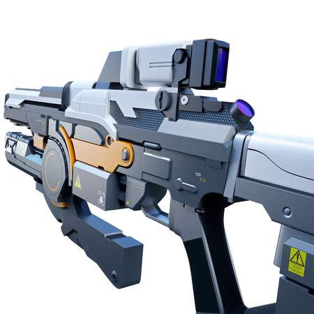 assault: Scientific fiction model of an assault rifle POV