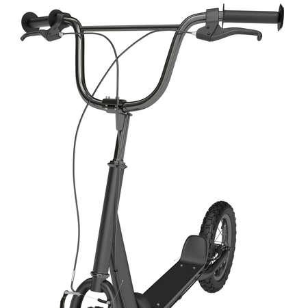 ni�o empujando: Chrome ruedas chapado con caucho maneja sobre un fondo blanco