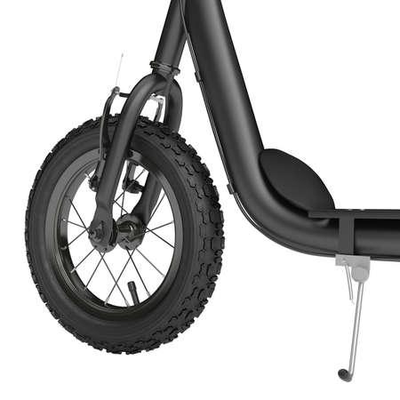 ni�o empujando: Scooter de rueda de Spike con frenos de mano sobre un fondo blanco Foto de archivo