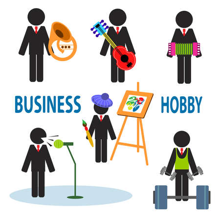 interesting: Interesting illustrations about the business and their hobbies