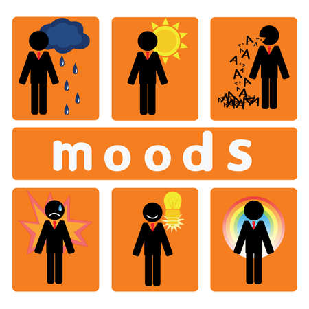 genial: Moods of the business. Set of business sentiment