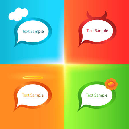 Stylized chat icons with different type of character Vector