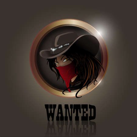 western cowgirl with hat and face mask