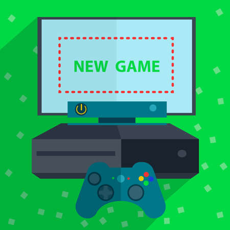 portable console: Modern video game consoles like joystick and the screen is ready for the game. Vector Illustration