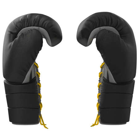 sport object: Sport boxing glove side view. 3D graphic object on white background isolated