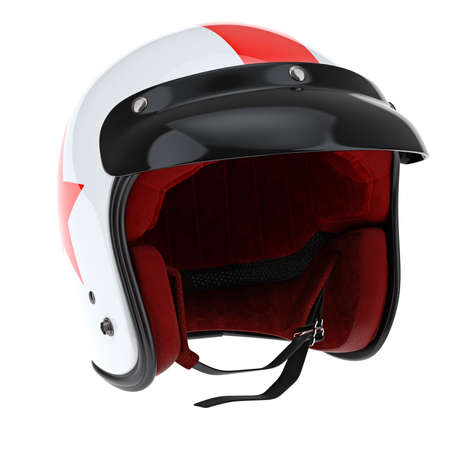 visor: Sports helmet with glossy black visor. 3D graphic object on white background isolated