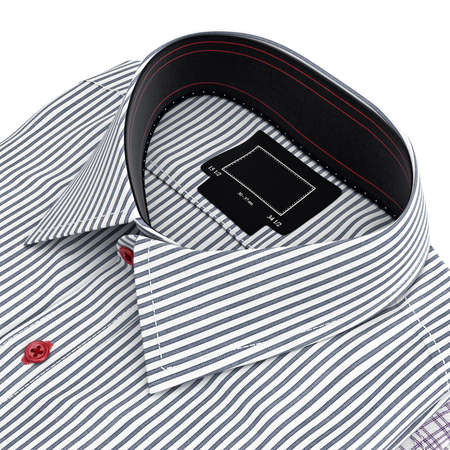 collar shirt: Classic collar shirt. 3D graphic object on white background