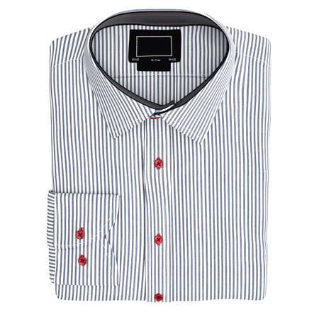 white shirt: Classic mens shirt, top view. 3D graphic object on white background isolated